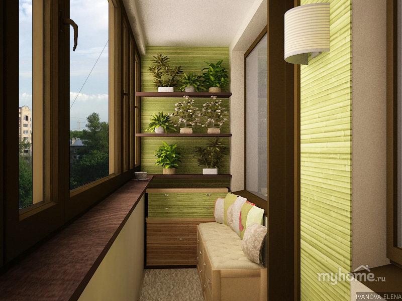 """Дизайн интерьера маленького балкона"""" - карточка от пользоват."""