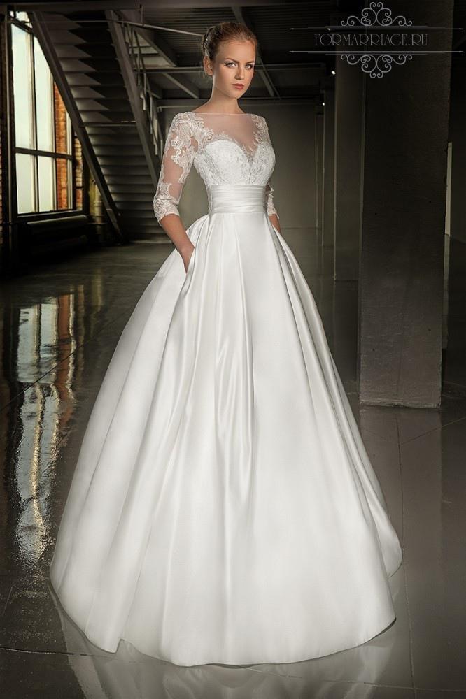 Свадебные платья с тонкой юбкой