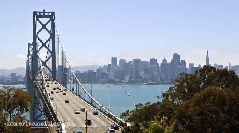 Мост Окленд-Бэй Бридж у Сан-Франциско