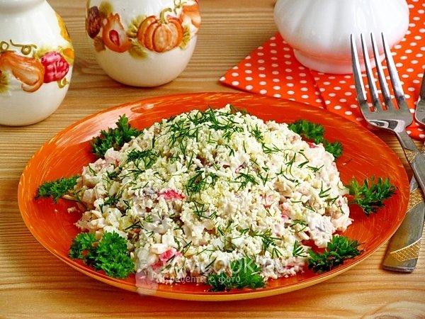 вкусные салаты из рыбы фото