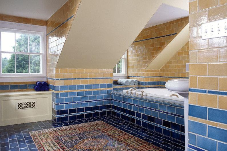 Ванная комната в синем цвете