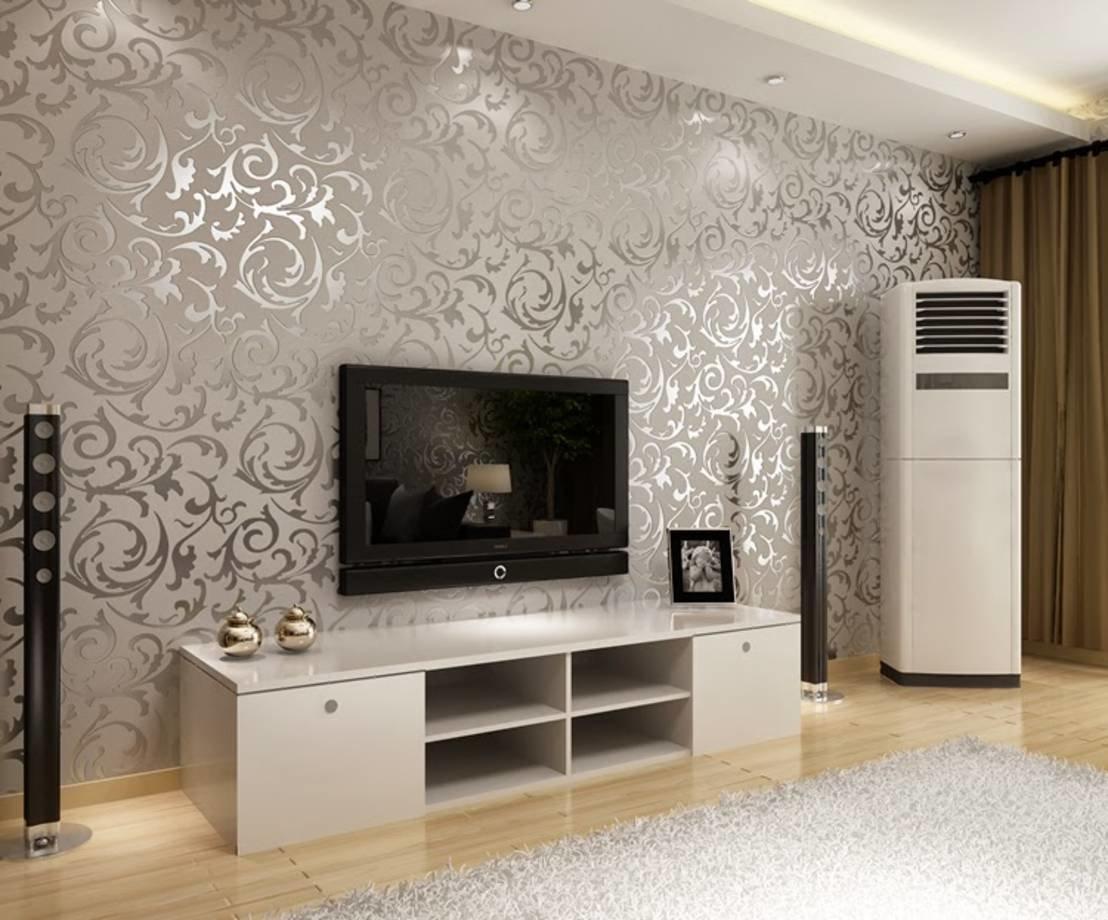 картинки современных обоев для зала целом чистый