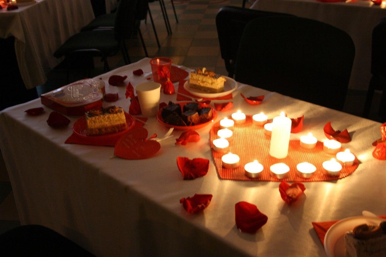 Романтический ужин в интимной обстановке