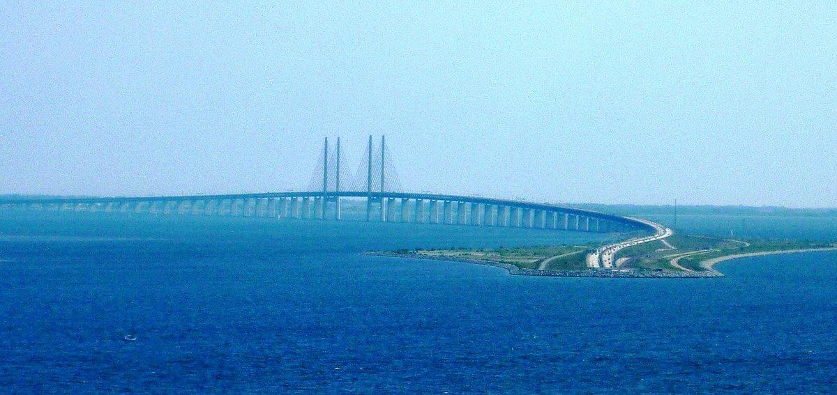 фото открытия моста швеция дания некоторые технические