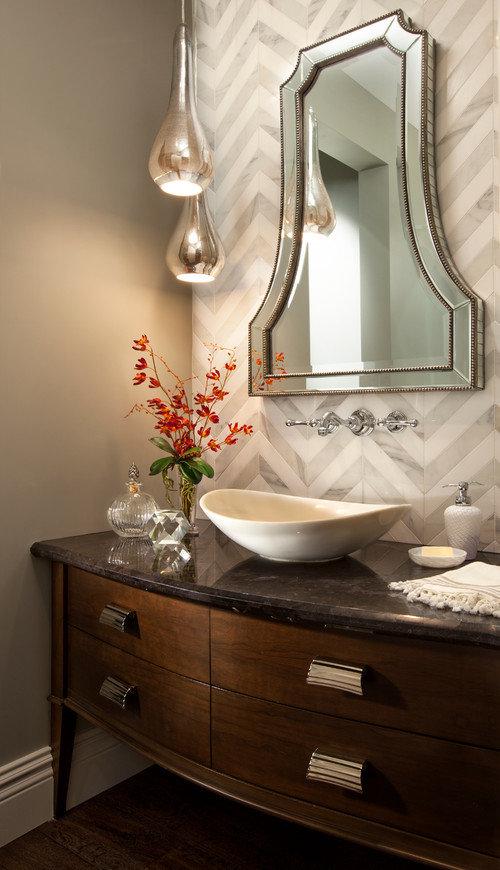 Зеркала в ванной. Интерьер ванной комнаты
