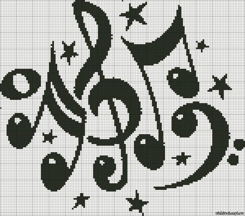 Монохром черно-белое схемы вышивка