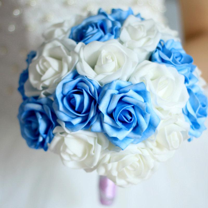 Свадебные букеты искусственные цветы 35