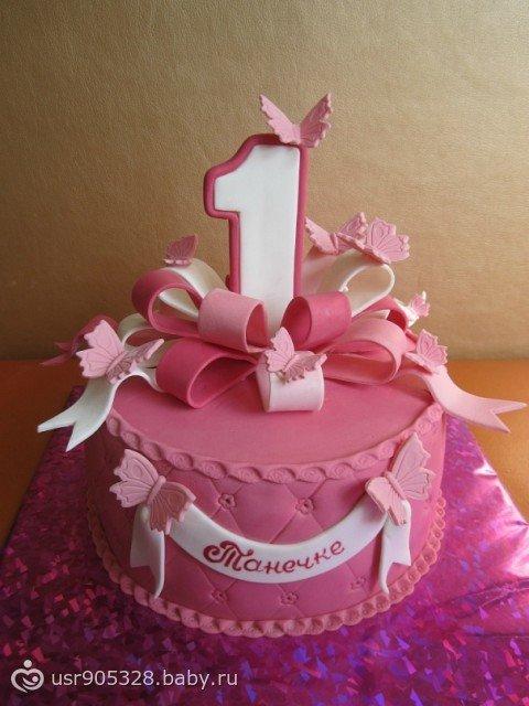Торт на год девочке фото
