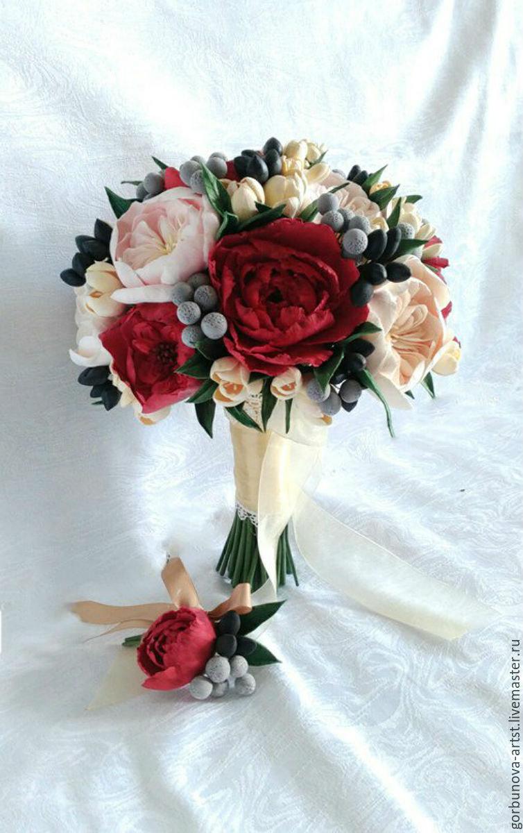 Яркий букет невесты заказать купить цветы хищники украина