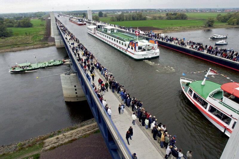 Магдебургский водный мост - длиннейший в Европе