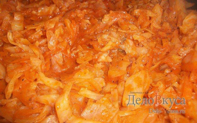 тушеная капуста с томатной пастой рецепт с фото