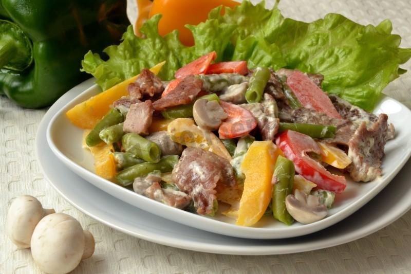 Jeseki 6 июля года  промойте болгарский перец и нарежьте тонкими полосками.