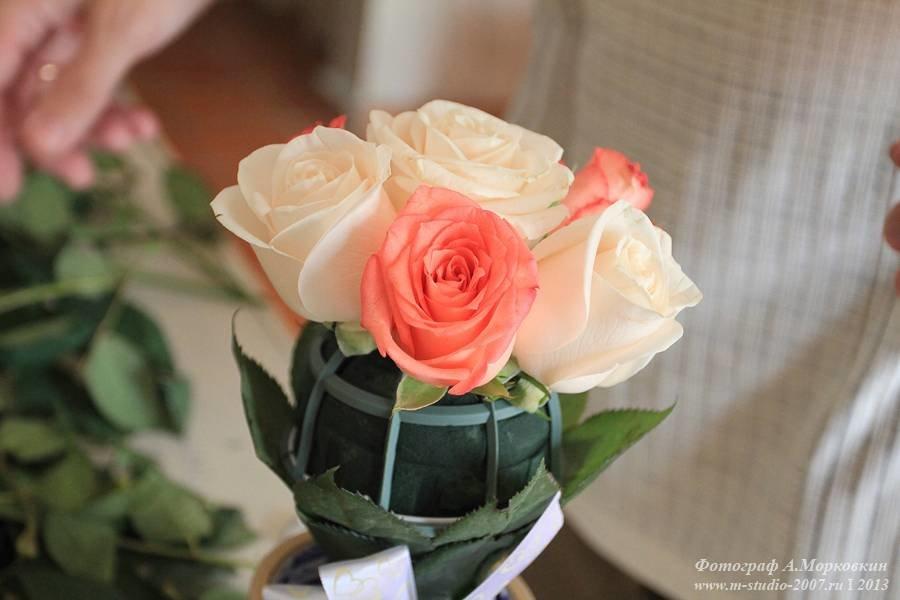 Букет из английские роз своими руками пошагово, цветов