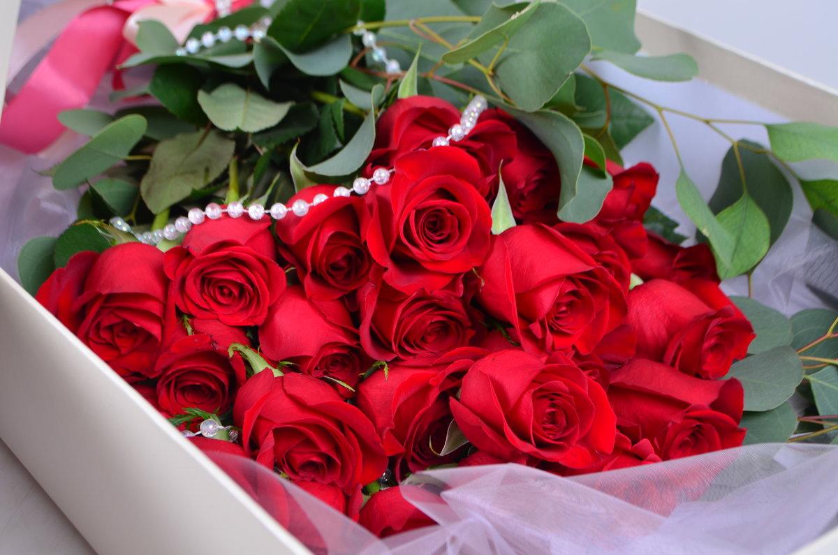Красивый букет роз на день рождения фото