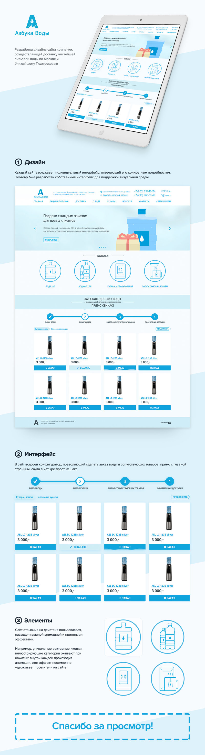 Веб-дизайн сайта Азбука Воды