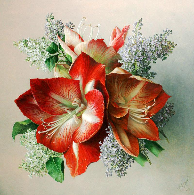 Картины с красивыми цветами 43