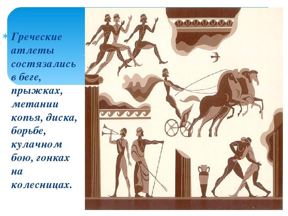 Мифы древней греции олимпийские игры картинки