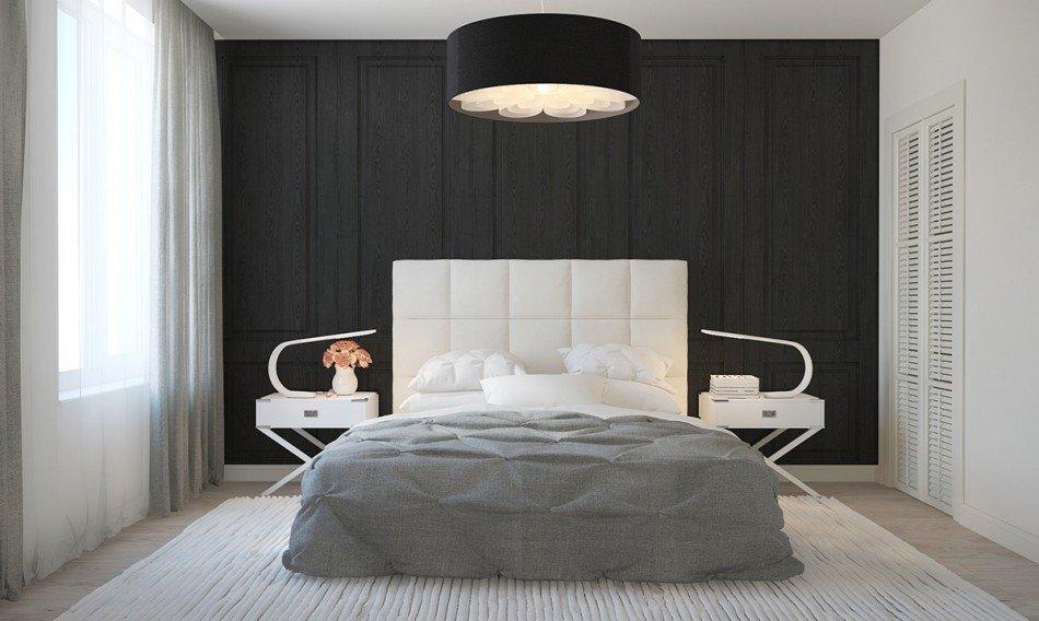 бело серая спальня в скандинавском стиле Henry 2 карточка