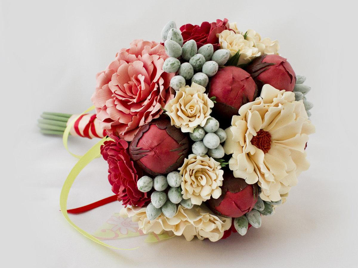 Букет цветов, необычный букет невесты купить киев