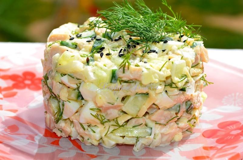 рецепт салат с кальмарами рецепт с фото
