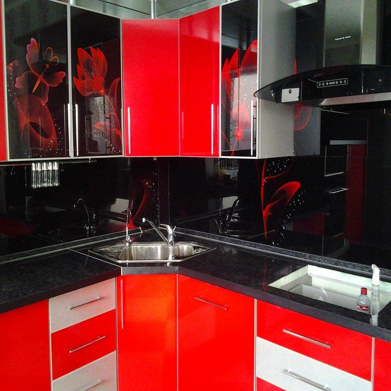 фото кухни красно черные