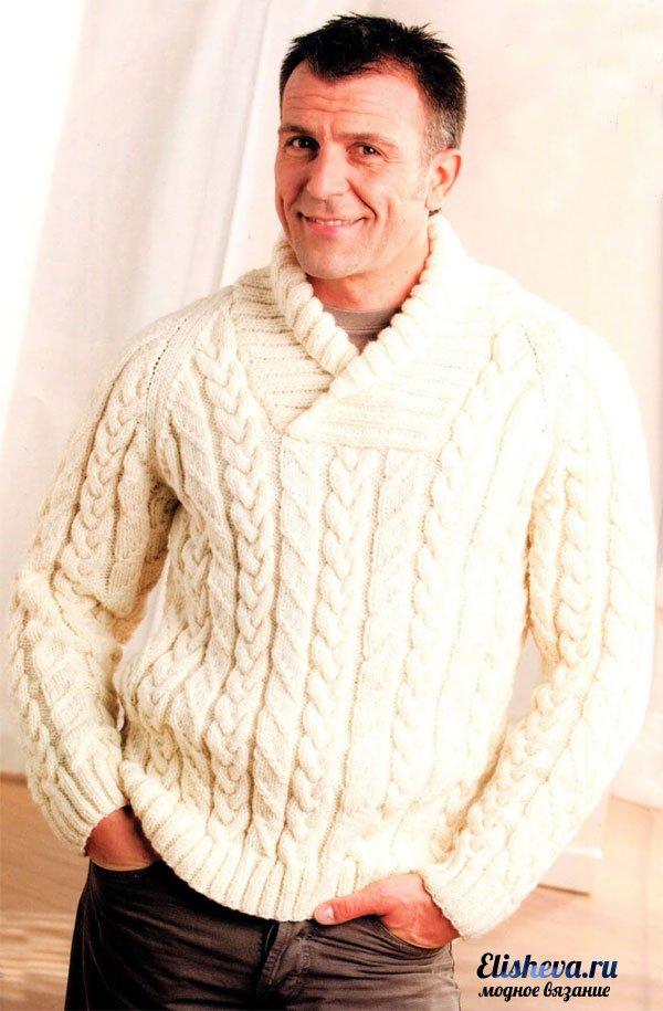 Фото вязания свитеров мужские