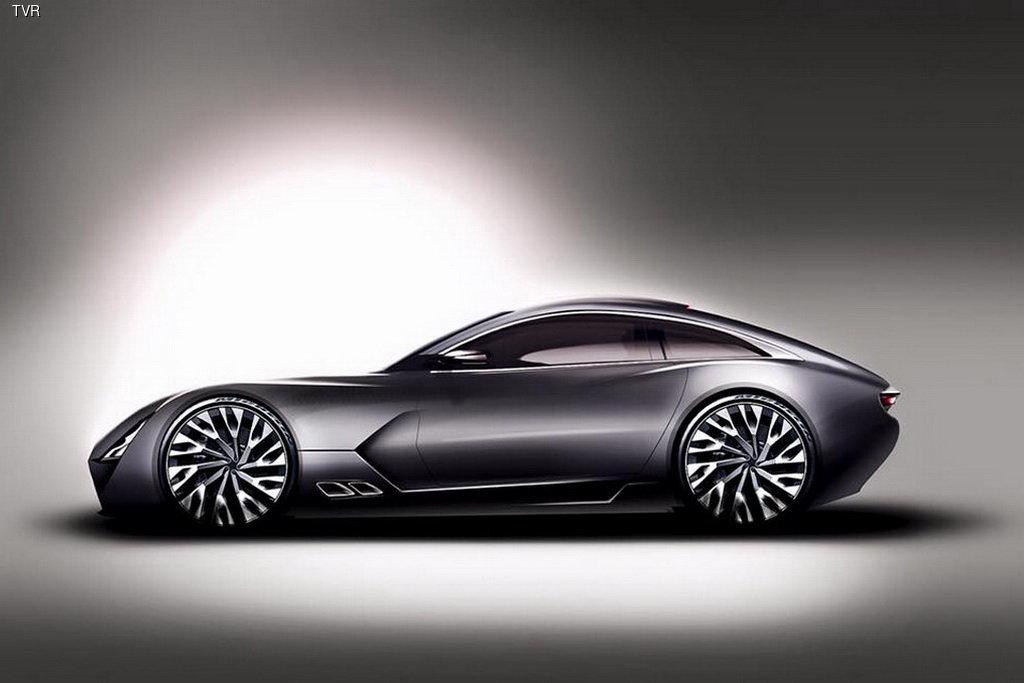 Возрожденный британский производитель спорткаров TVR представил первое изображение новой модели.