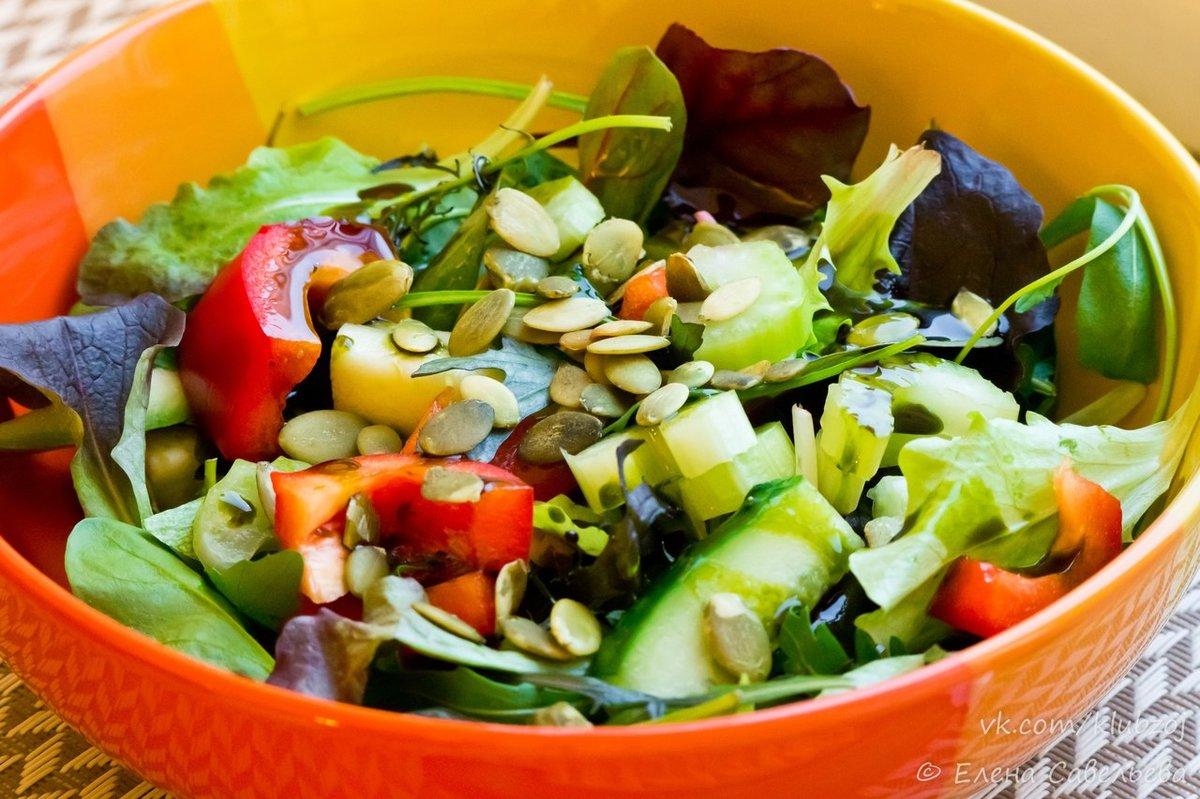 Салаты на растительном масле рецепты с фото