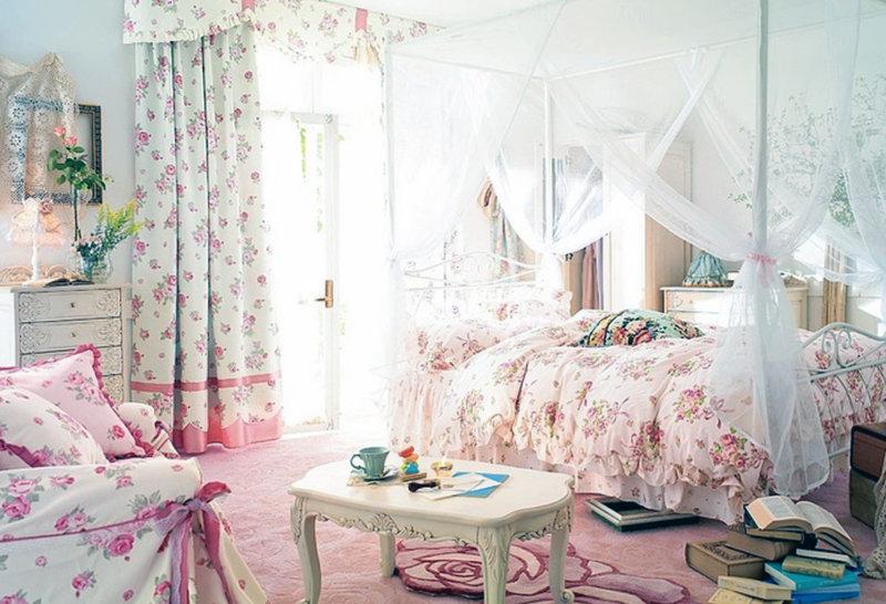 Стиль шебби-шик в интерьере | Как сделать ремонт Романтичная спальня для девочки в стиле шебби шик