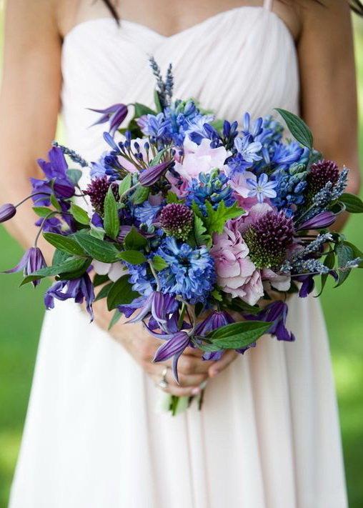 Шампанского конфет, букет невесты сине фиолетовый