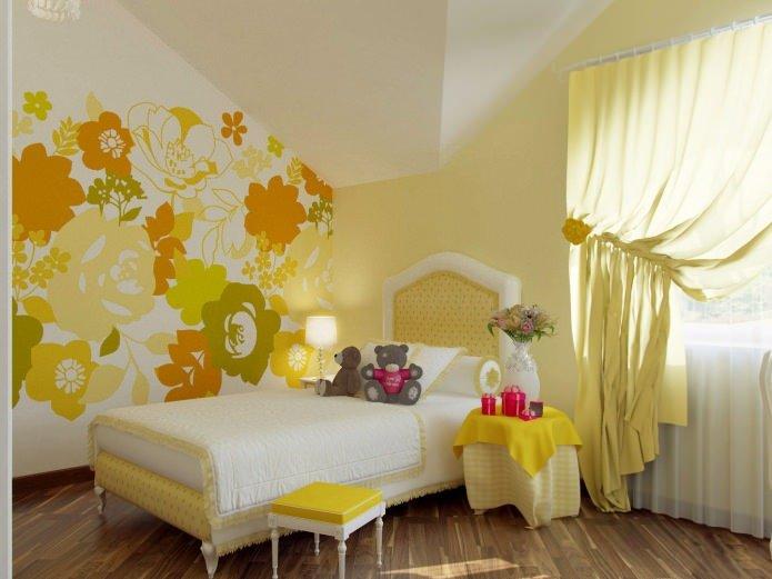Дизайн жёлтой комнаты