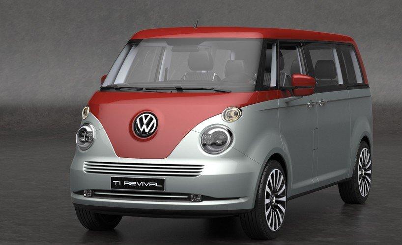 Концепт обновленного микроавтобуса Volkswagen T1