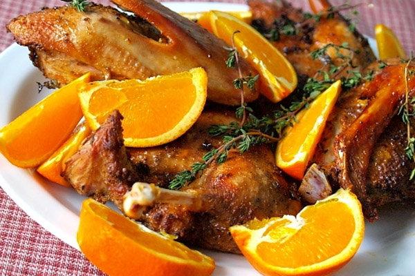 Рецепт утки в духовке с апельсиновым соком