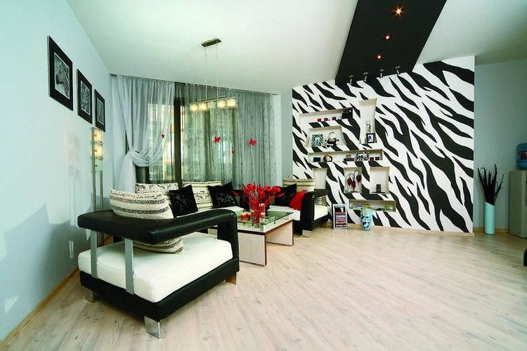 фото гостиной в стиле зебра время дезинсекции