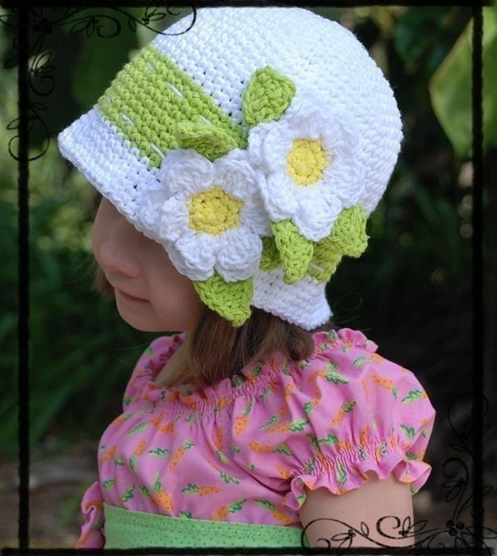 крючком украшения детской вязанные шапочке для