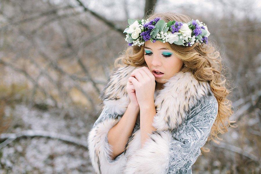 источником макияж для зимней фотосессии на улице человек видит образцах