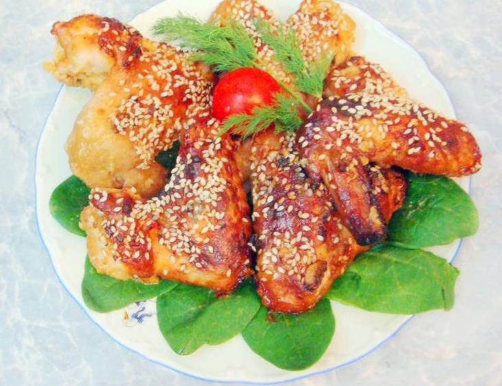 крылышки в медовом соусе рецепт с фото