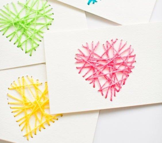 Статусы для, открытки с нитками своими руками