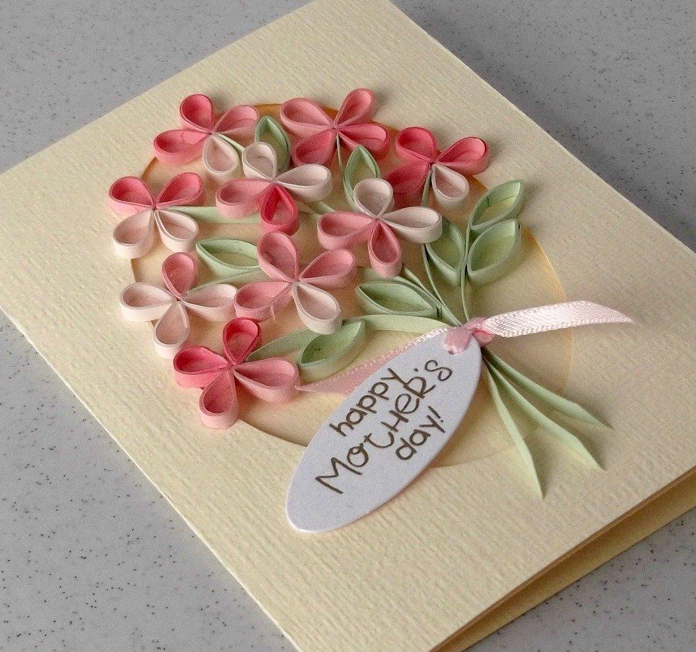 Красотке, самодельные открытки в день рождения маме