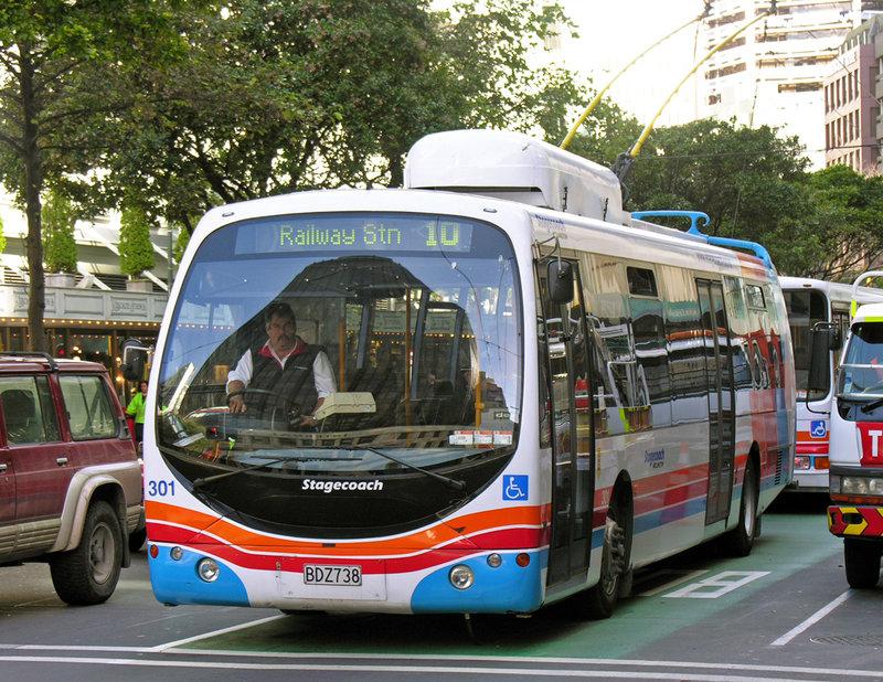 Троллейбус столицы Новой Зеландии, города Велингтона.