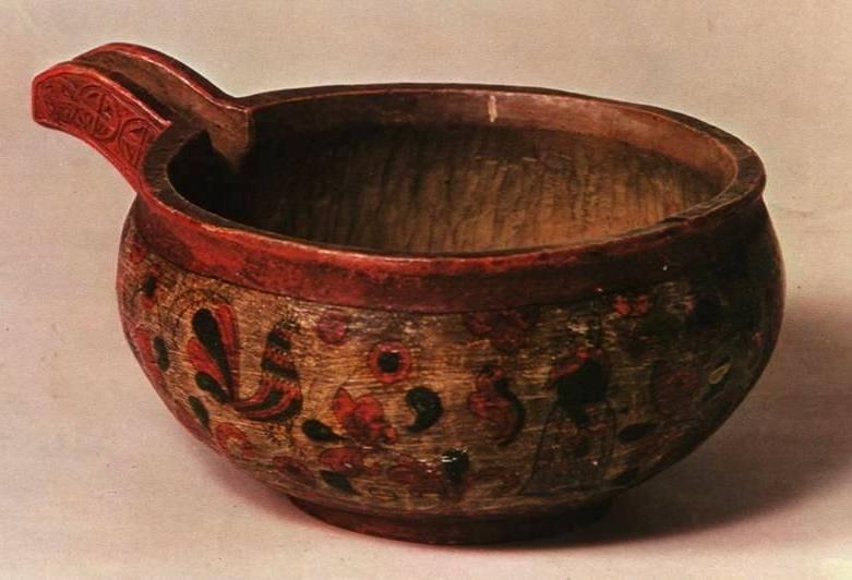 Старинная деревянная посуда картинка