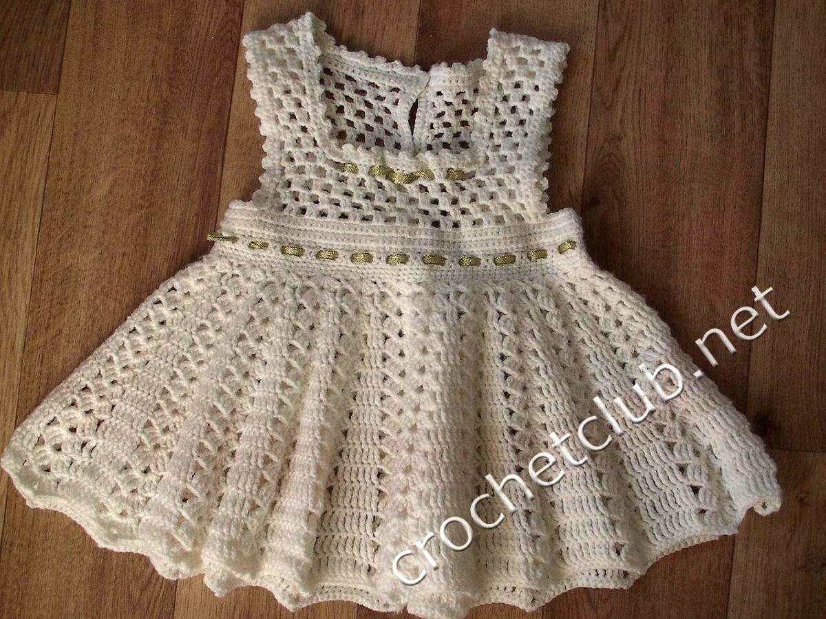 Ажурное вязаное платье крючком схема фото 849