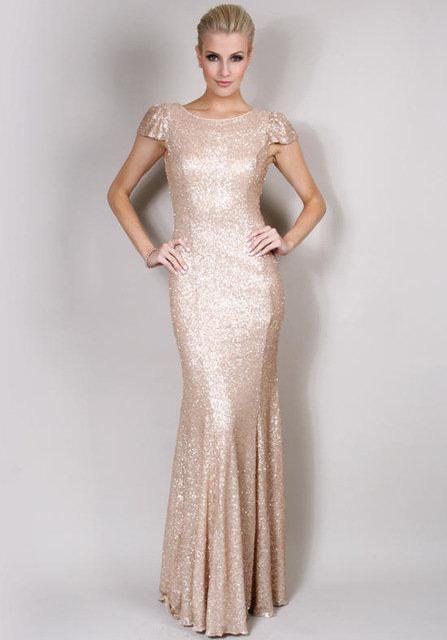 На свадьбу в блестящем платье
