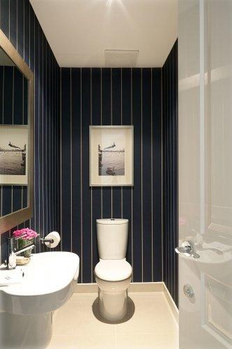 Интерьер туалета маленького размера + фото