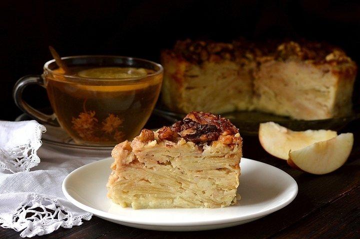«Невидимый» яблочный пирог - пошаговый рецепт с фото