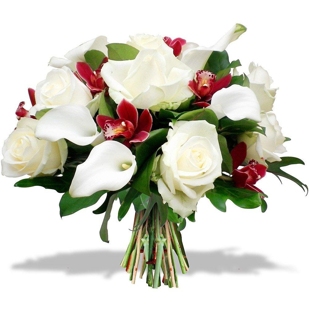 Розы с каллами картинки