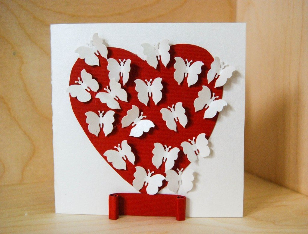 Объемные открытки сердечки