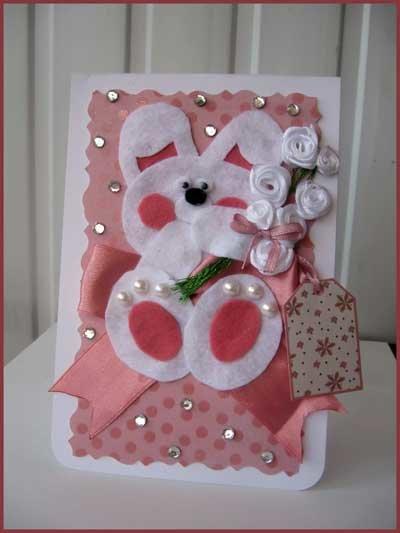Открытка из фетра на день рождения девочке, тили тесто