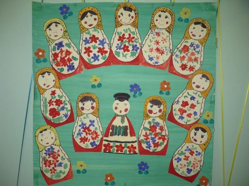 занятие русские матрешки в подготовительной группе вид одежды удобный