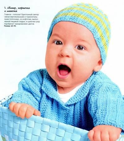 Вязание для детей до года: вещи для младенцев спицами и 47